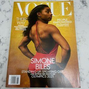Vogue Magazine Simone Biles Standing Up Speaking